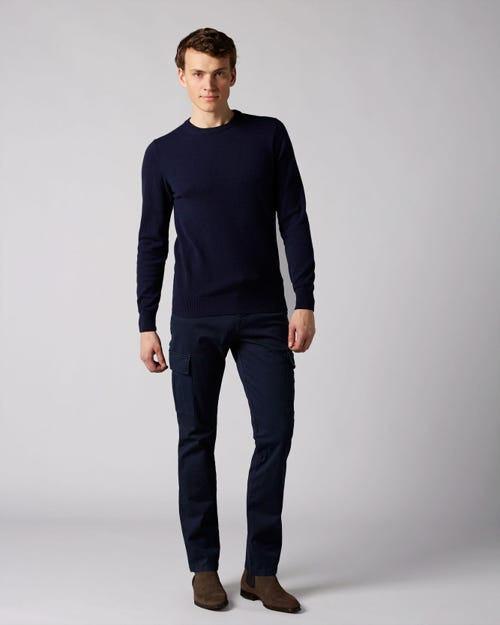 7 For All Mankind - Slimmy Chino Cargo Compact Twill Navy