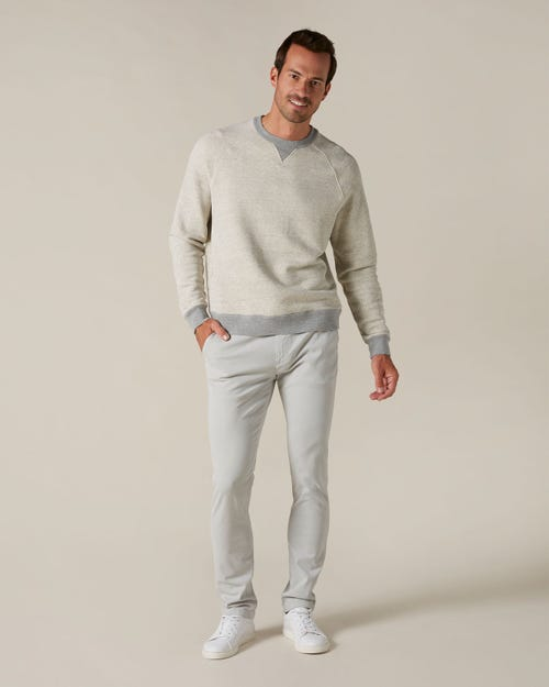 RONNIE CHINO LUXE PERFORMANCE SATEEN MIST GREY