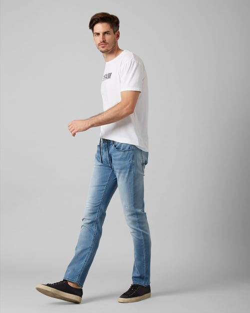 7 For All Mankind - Ronnie J Luxe Jogger Sorake Light Blue