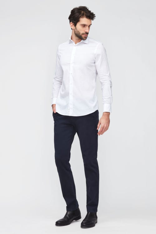 SLIMMY CHINO TAP. LUXE PERFORMANCE SATEEN   NAVY