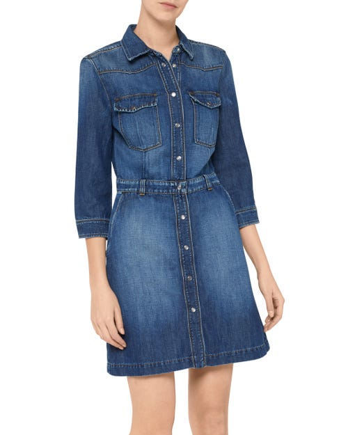 7 For All Mankind - Victoria Dress Indigo