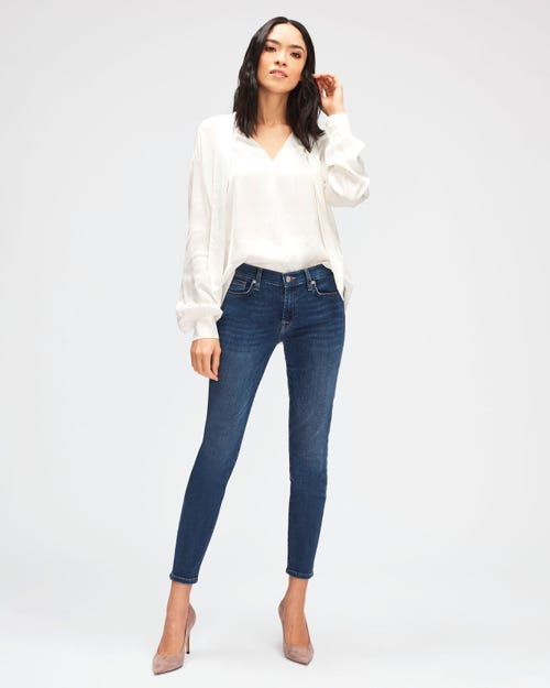 7 For All Mankind - The Skinny Crop B(Air) Vintage Dusk
