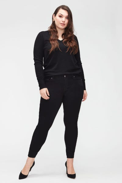 7 for all Mankind - THE SKINNY CROP B(AIR) RINSED BLACK