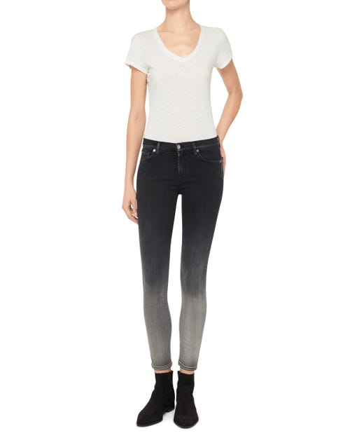 THE SKINNY CROP SLIM ILLUSION LUXE FADED BLACK