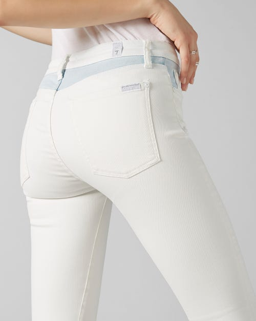7 For All Mankind - The Skinny Crop Light Oceanside
