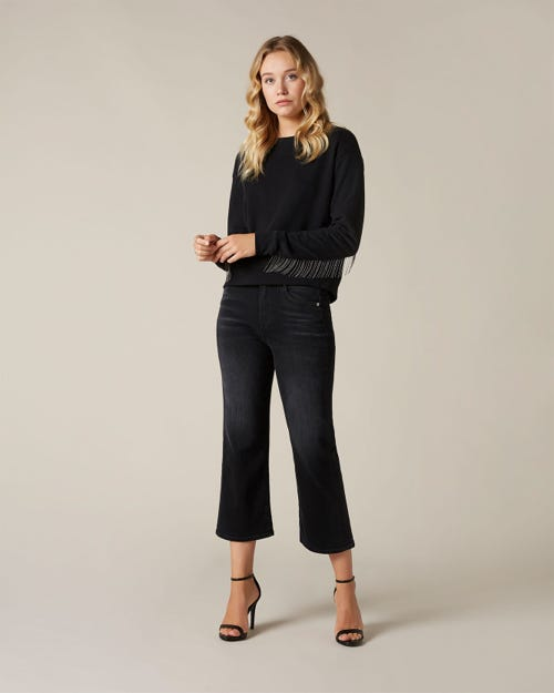 CROPPED ALEXA SOHO BLACK