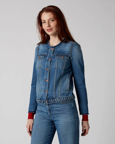 7 For All Mankind - Denim Jacket Braided