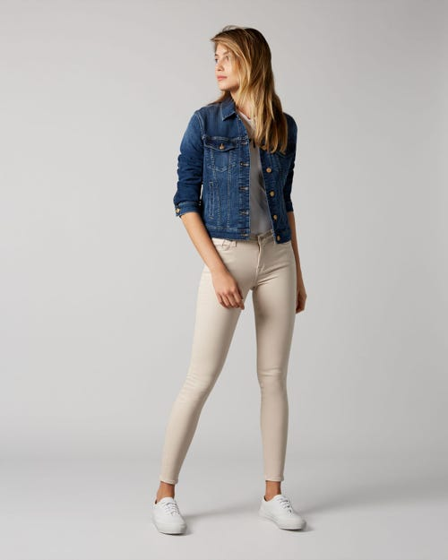 7 For All Mankind - The Skinny Slim Evolution Colored Tan
