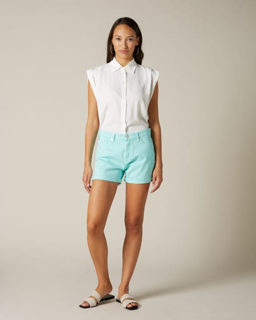 BOY SHORTS COLORED COMFORT STRETCH TURQUOISE