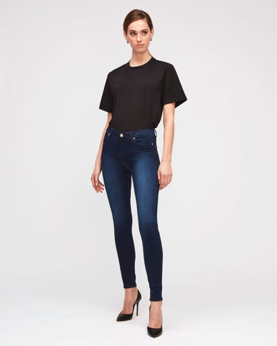 7 For All Mankind - High Waist Skinny Slim Illusion Luxe Rich Indigo