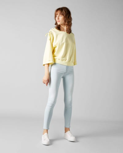 HW SKINNY CROP SLIM ILLUSION LUXE SURFSIDE
