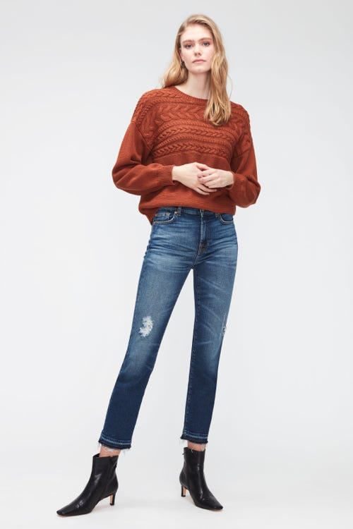THE STRAIGHT CROP LUXE VINTAGE MOMENT