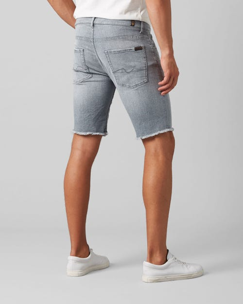 7 for all Mankind - REGULAR SHORT LEFT HAND COTILLO LIGHT GREY WITH RAW HEM
